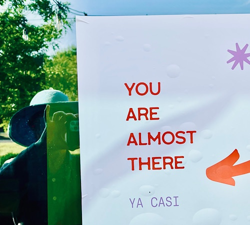 """Sign in window , reads """"you are almost there/ya casi"""""""